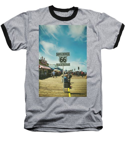 The End Of Sixty-six Baseball T-Shirt by Laurie Search