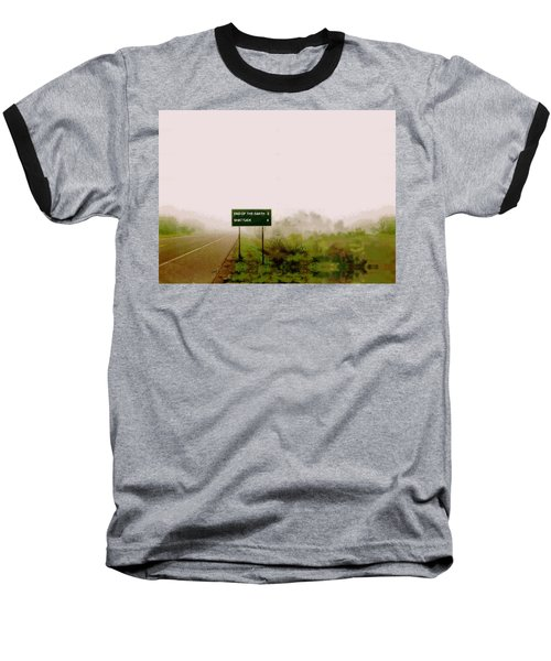 The End Of The Earth Baseball T-Shirt