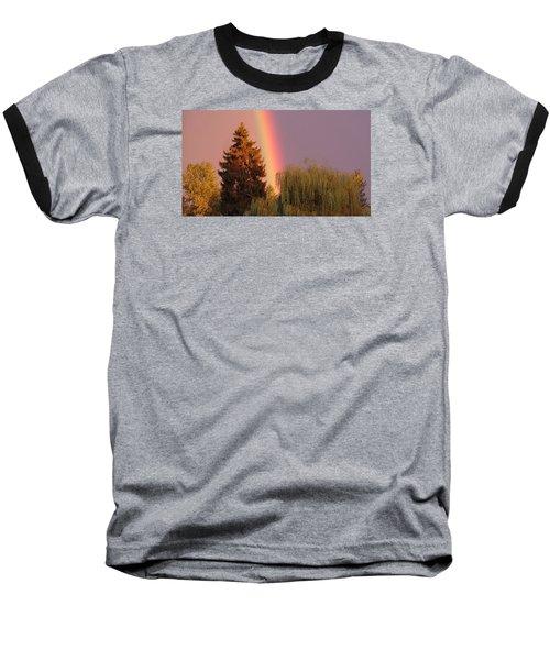 The End Of The Rainbow Baseball T-Shirt by Karen Molenaar Terrell