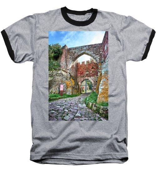 The Entrance To The Monastery Of Escornalbou Baseball T-Shirt