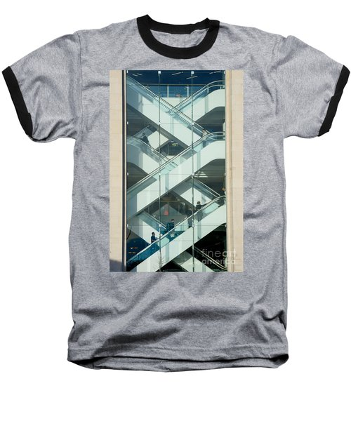 Baseball T-Shirt featuring the photograph The Escalators by Colin Rayner