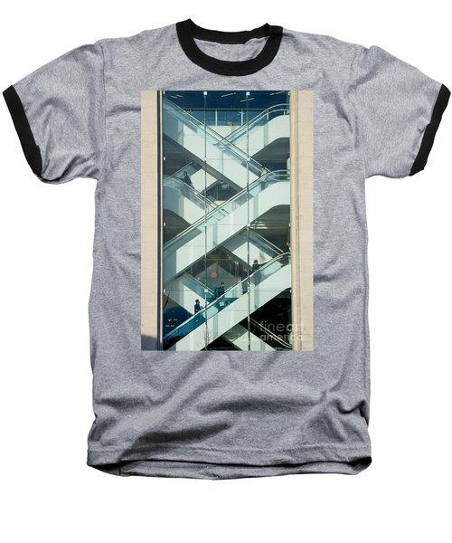 The Escalators Baseball T-Shirt by Colin Rayner