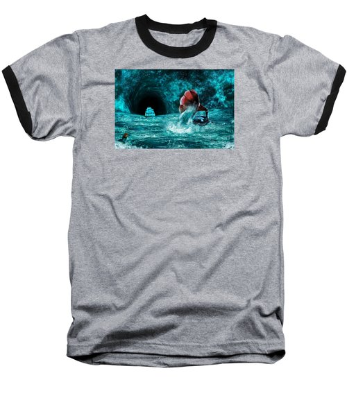 Baseball T-Shirt featuring the digital art The Eternal Ballad Of The Sea by Olga Hamilton