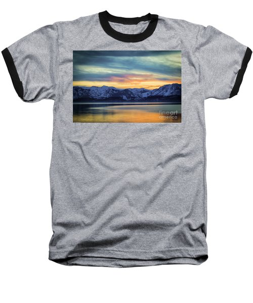 The Evening Colors Baseball T-Shirt by Mitch Shindelbower