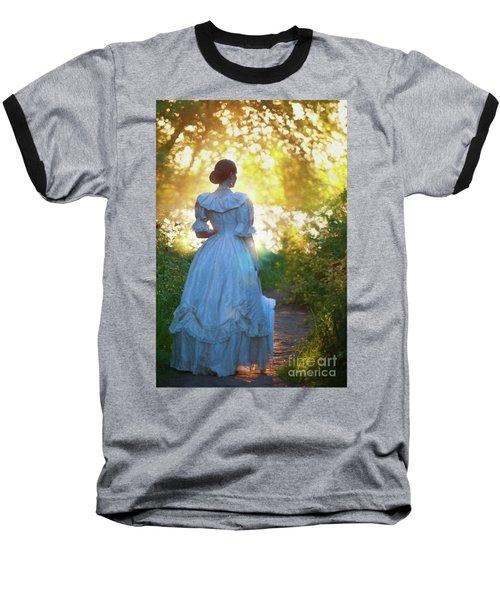 The Evening Walk Baseball T-Shirt by Lee Avison