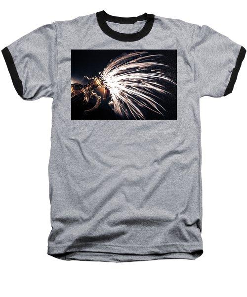 The Exploding Growler Baseball T-Shirt by David Sutton