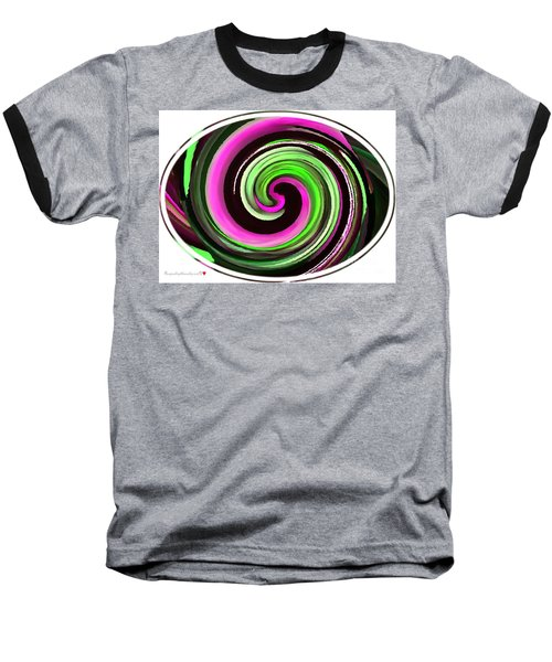 Baseball T-Shirt featuring the painting The Eye by Catherine Lott