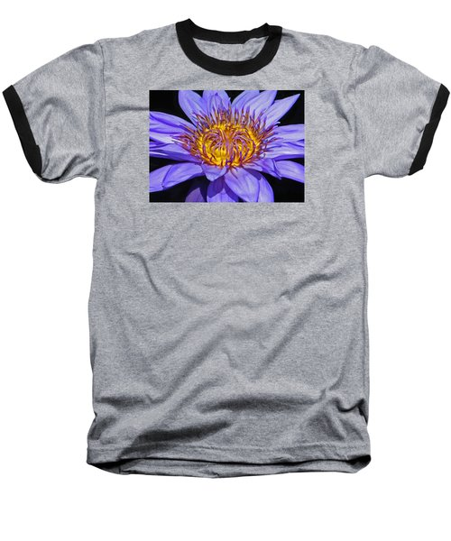 The Eye Of The Water Lily Baseball T-Shirt by Emmy Marie Vickers