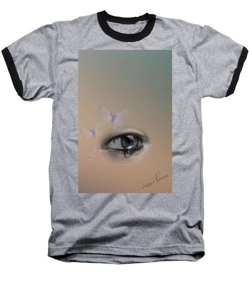 The Eyes Don't Lie Baseball T-Shirt by Vennie Kocsis