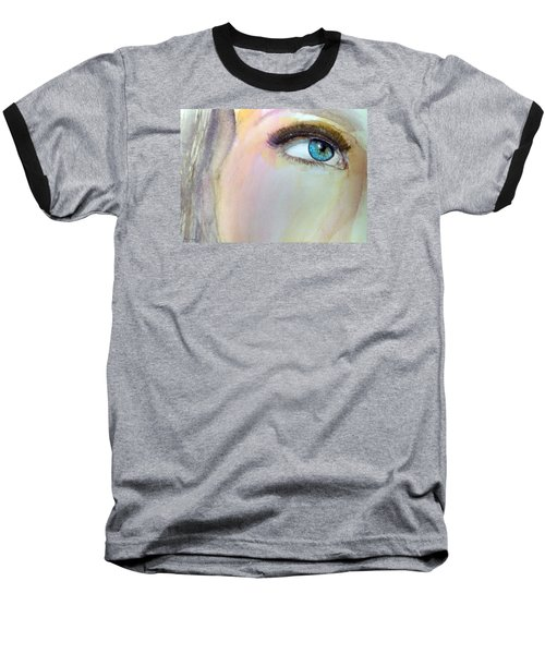 Baseball T-Shirt featuring the painting The Eyes Have It by Ed  Heaton