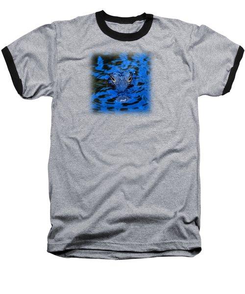 The Eyes Of A Florida Alligator Baseball T-Shirt by John Harmon