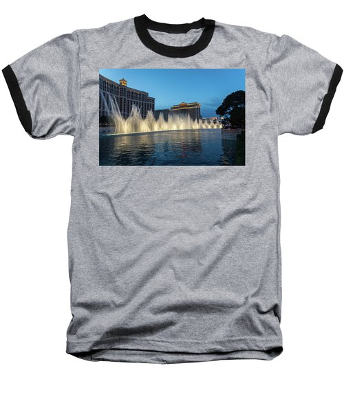 The Fabulous Fountains At Bellagio - Las Vegas Baseball T-Shirt