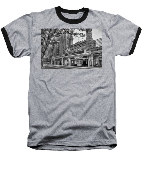 The Fabulous Fox Theatre Bw Atlanta Georgia Art Baseball T-Shirt