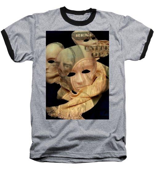 The Face Of Greed Baseball T-Shirt