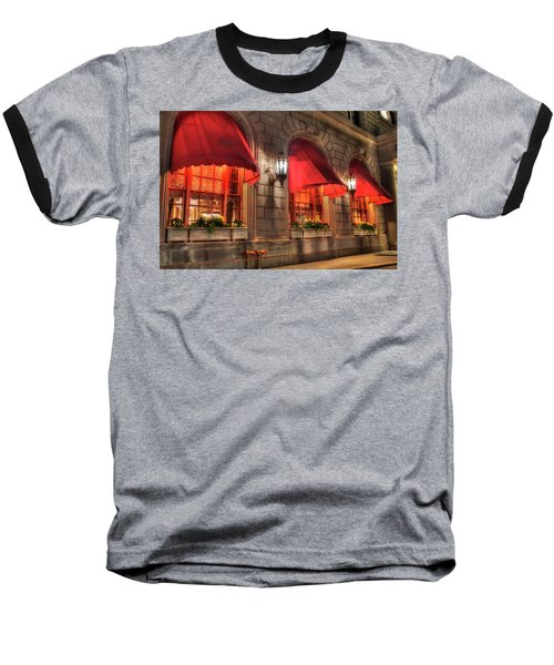 Baseball T-Shirt featuring the photograph The Fairmont Copley Plaza Hotel - Boston by Joann Vitali