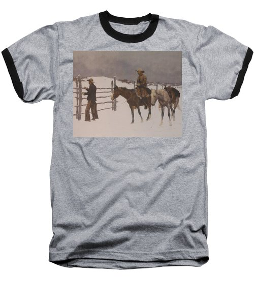 The Fall Of The Cowboy Baseball T-Shirt by Frederic Remington