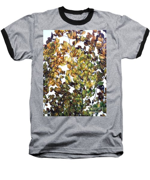 Baseball T-Shirt featuring the photograph The Fall by Rebecca Harman