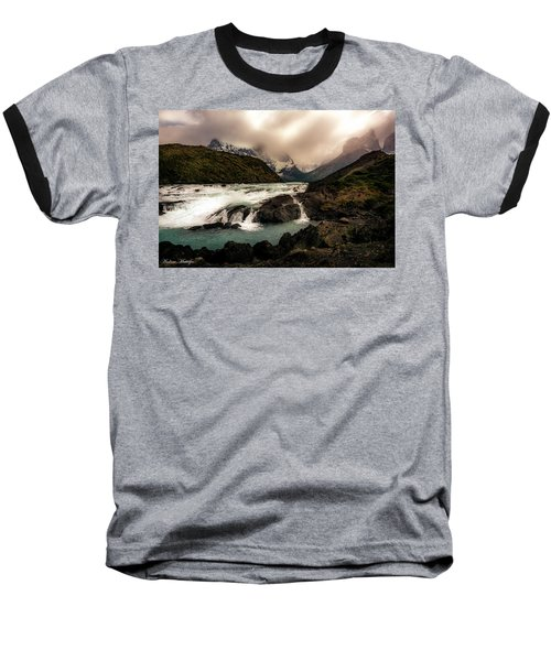 Baseball T-Shirt featuring the photograph The Falls by Andrew Matwijec