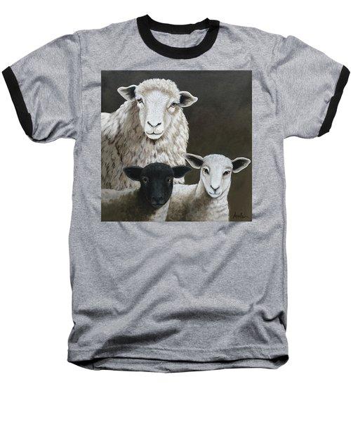 The Family - Sheep Oil Painting Baseball T-Shirt