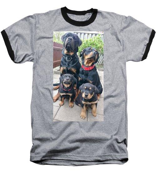The Family Tree Rottweilers Baseball T-Shirt by Sheila Mcdonald