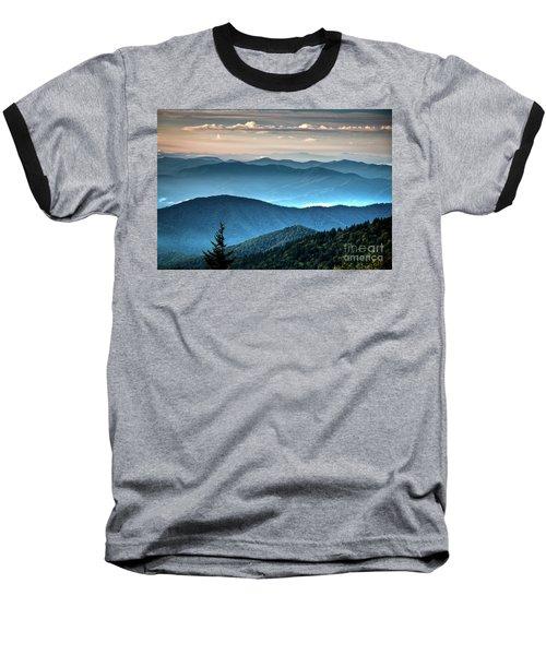 The Far Blue Smoky Mtns. Baseball T-Shirt