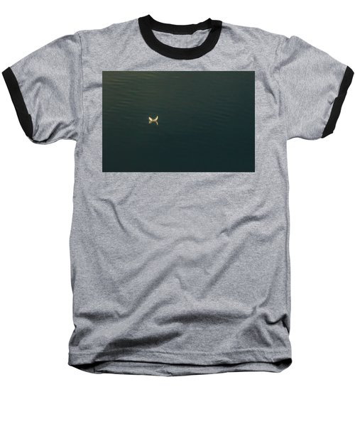 The Feather 2 Baseball T-Shirt by Timothy Latta
