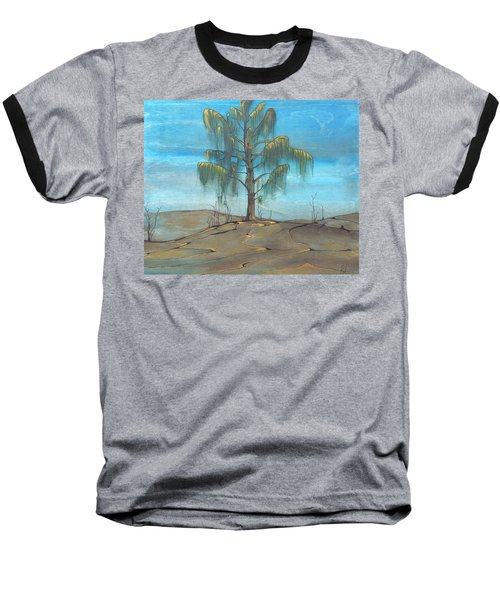 The Feather Tree Baseball T-Shirt by Pat Purdy