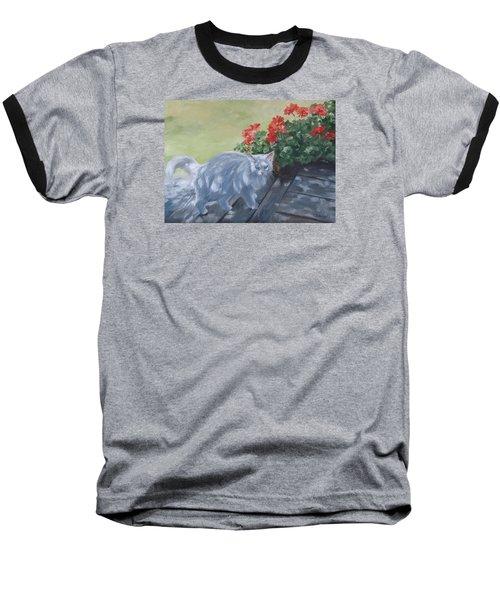 A Feral Cloud Baseball T-Shirt by Connie Schaertl