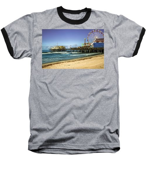 The Ferris Wheel - Santa Monica Pier Baseball T-Shirt