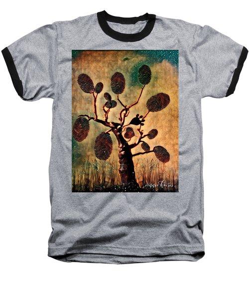 The Fingerprints Of Time Baseball T-Shirt by Vennie Kocsis