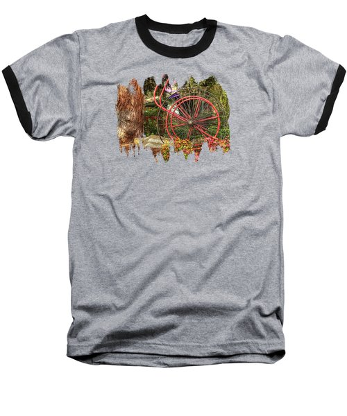 Baseball T-Shirt featuring the photograph The Fire Hose Reel by Thom Zehrfeld