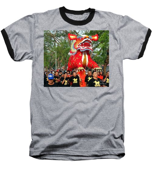 The Fire Lion Procession In Southern Taiwan Baseball T-Shirt by Yali Shi