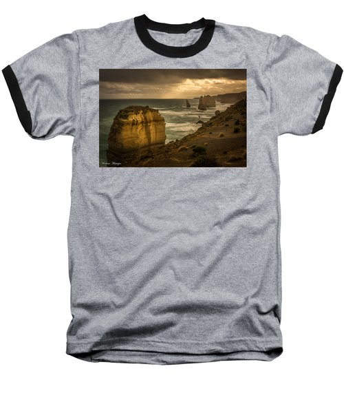 Baseball T-Shirt featuring the photograph The Fire Sky by Andrew Matwijec