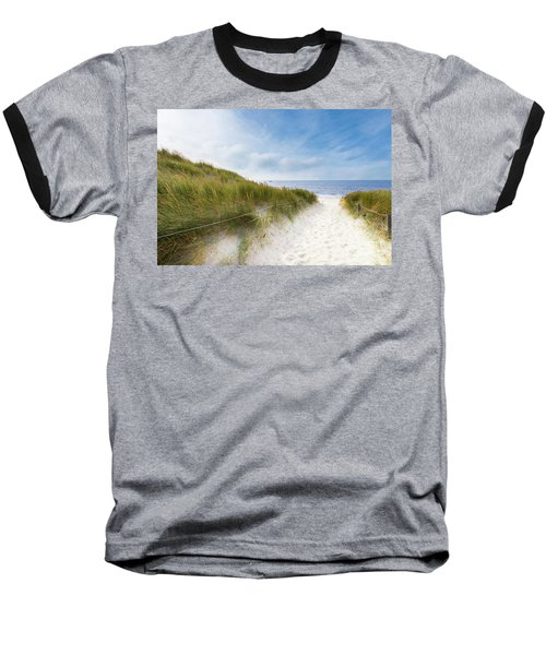 Baseball T-Shirt featuring the photograph The First Look At The Sea by Hannes Cmarits