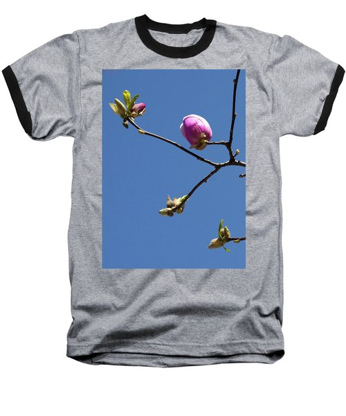 The First To Bloom Baseball T-Shirt