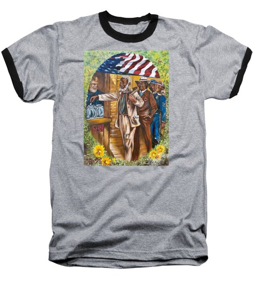 Historical  Artwork     First Vote - 1867 Baseball T-Shirt