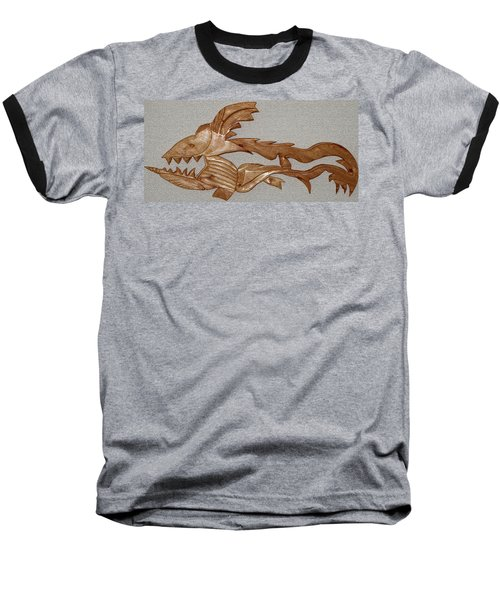 The Fish Skeleton Baseball T-Shirt