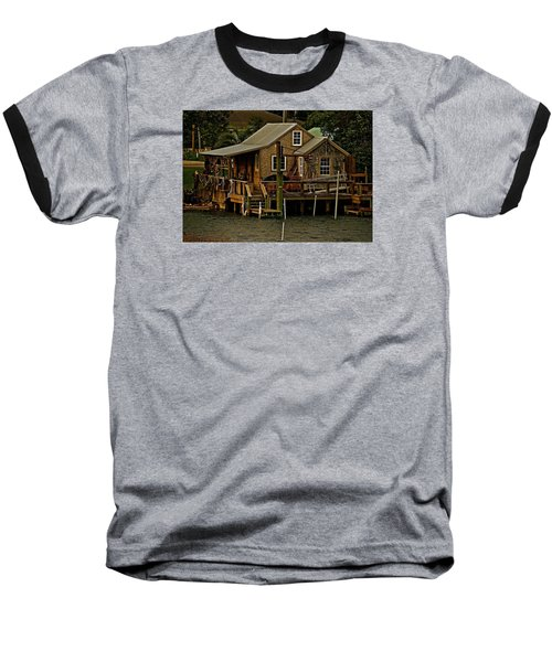 The Fishing Shack Baseball T-Shirt by John Harding
