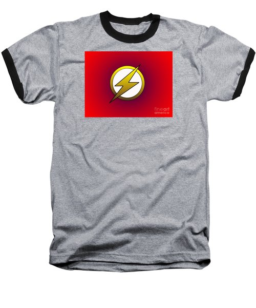 The Flash  Baseball T-Shirt by Justin Moore