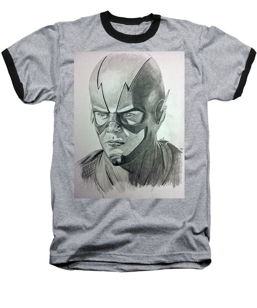 Baseball T-Shirt featuring the drawing The Flash by Michael McKenzie