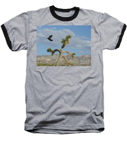 Baseball T-Shirt featuring the photograph The Flight Of Raven. Lucerne Valley. by Ausra Huntington nee Paulauskaite
