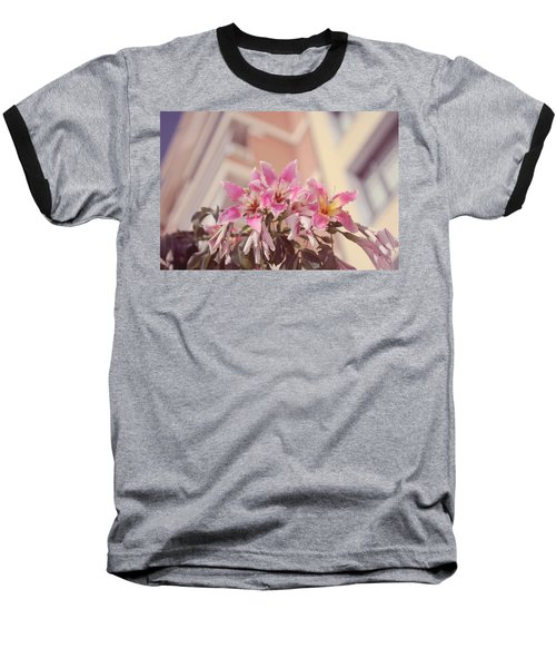 Baseball T-Shirt featuring the photograph The Flowers Of Malaga by Jenny Rainbow
