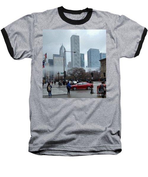 The Fog Lifts On Michigan Avenue Baseball T-Shirt