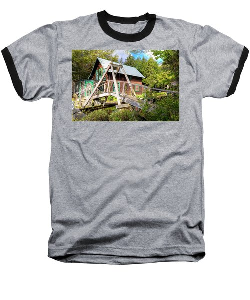 Baseball T-Shirt featuring the photograph The Footbridge At Palmer Point by David Patterson