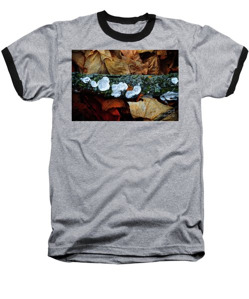 Baseball T-Shirt featuring the photograph The Forest Floor - Cascade Wi by Mary Machare