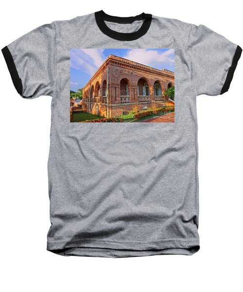Baseball T-Shirt featuring the photograph The Former British Consulate In Kaohsiung In Taiwan by Yali Shi
