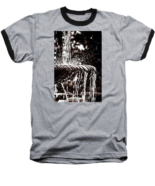 Baseball T-Shirt featuring the photograph The Fountain by Wade Brooks
