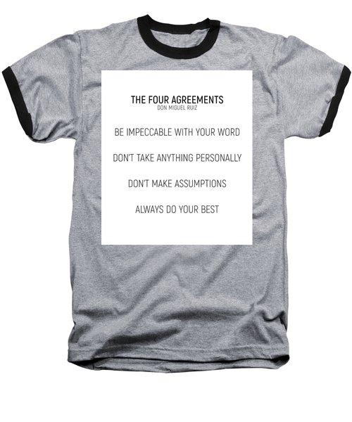 The Four Agreements #minismalism #shortversion Baseball T-Shirt