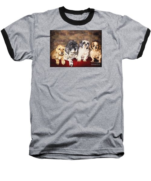 The Four Amigos Baseball T-Shirt by Janice Rae Pariza