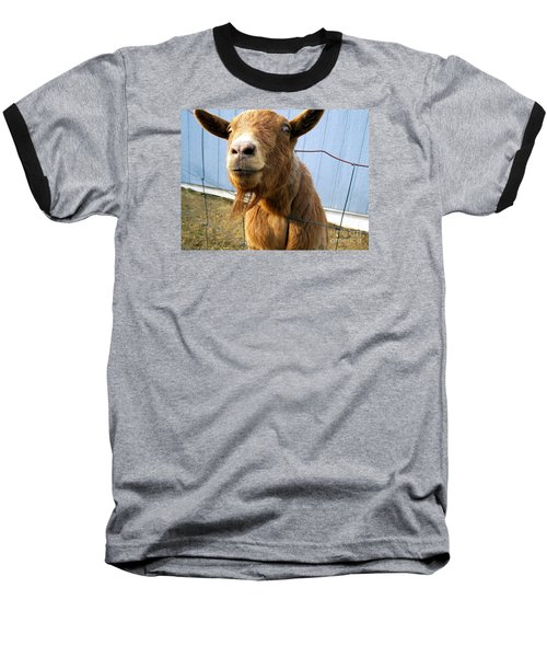 The Friendly Goat  Baseball T-Shirt